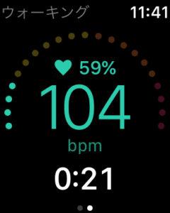 心拍ゾーンを表示する「Zones」のApple Watchでの表示