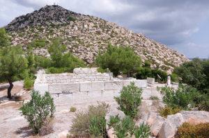 アクロポリス頂上の遺跡