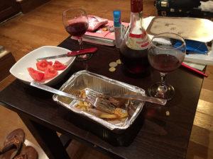 簡単に夕食
