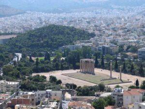 ゼウス神殿が見える