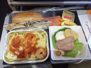 アエロフロート:成田-シェレメーチェヴォ間の昼食:シーフード