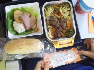 アエロフロート:成田-シェレメーチェヴォ間の昼食:ビーフ