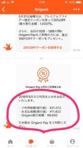 Origami Pay 2019年5月ご利用まとめ