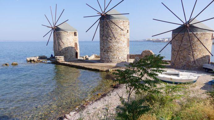 ヒオス島の風車
