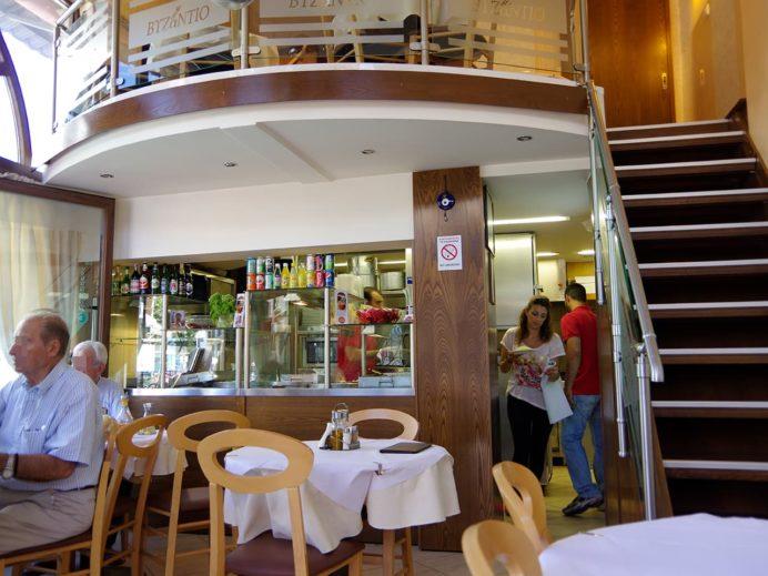 レストラン「ビザンティオ」店内の様子