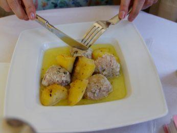 レストラン「ビザンティオ」の料理「ユーバルラキャ」