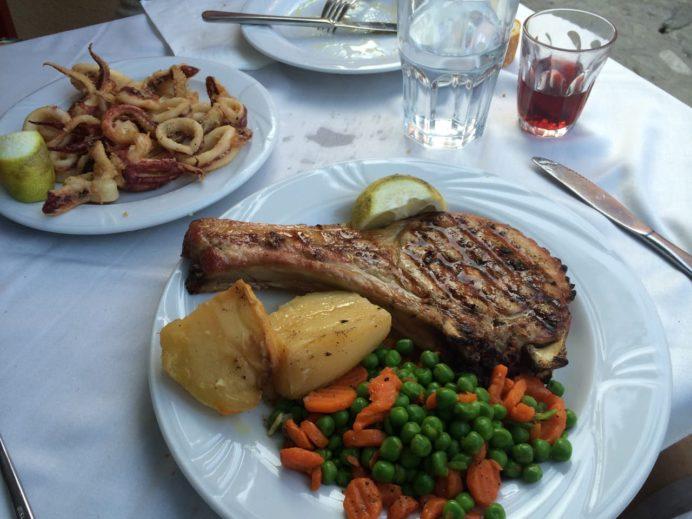2014年8月12日Geros Tou Moria Restaurant での食事